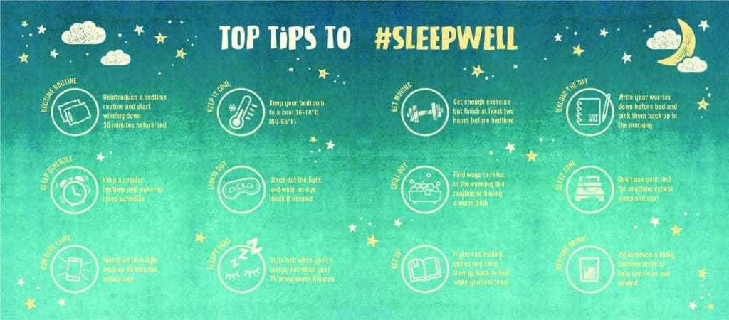sleep well top tips